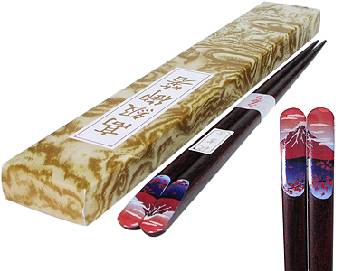 Hokusai's Red Fuji Fine Japanese Chopsticks