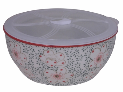 Large Charming Cherry Blossom Bowl with Lid