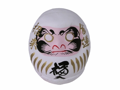 Lucky Japanese White Daruma Doll