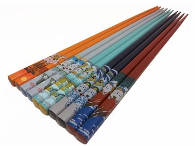 Maneki Neko Travels Japanese Chopsticks Set for Five