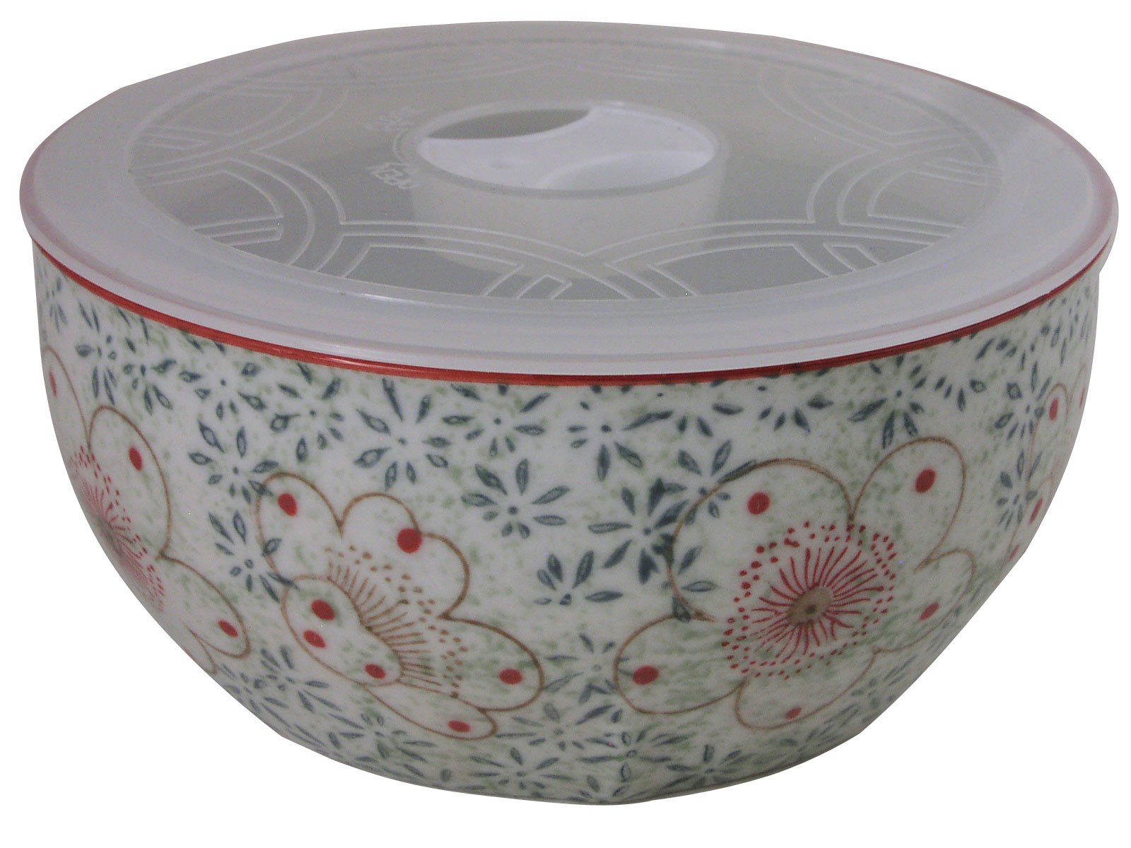 medium green floral dream serving bowl with lid. Black Bedroom Furniture Sets. Home Design Ideas