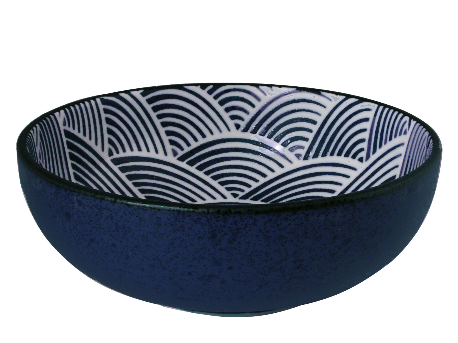 Modern Blue And White Japanese Wave Flat Curved Japanese