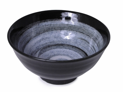 6-1/4 Inch Modernist Moonlite Night Japanese Ceramic Bowl