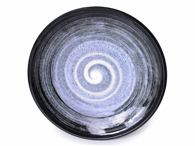 7-3/4 Inch Modernist Moonlite Night Japanese Ceramic Plate