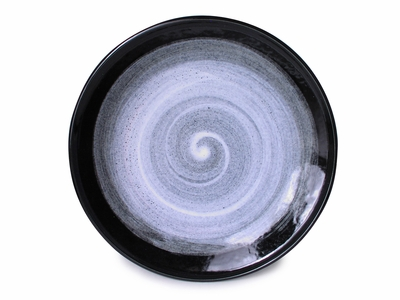 10 Inch Modernist Moonlite Night Large Japanese Plate