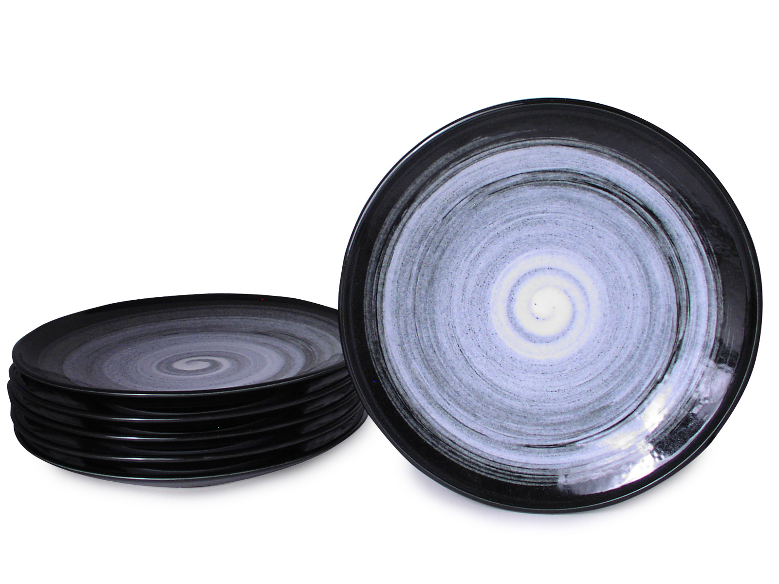 sc 1 st  Mrs. Linu0027s Kitchen & 10 Inch Modernist Moonlite Night Large Japanese Plate Set for Six