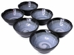 3-1/2 Inch Modernist Moonlit Night Japanese Soy Sauce Dish Set for Six
