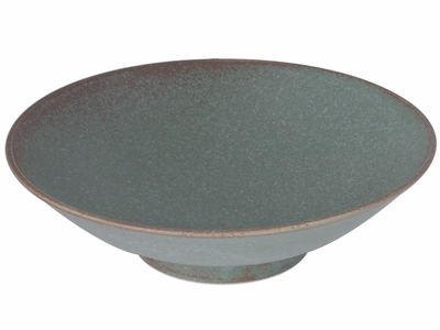 Moss Green Japanese Large Dinner Serving Bowl