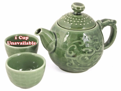 Mystic Dragon Tea Set for Two (1 Teapot & 1 Cup)
