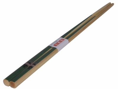 Naturalist Lover Beige and Green Bamboo Wooden Chopsticks