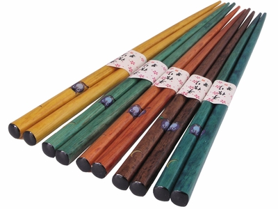 Nature Lover's Autumn Shades Bamboo Chopsticks Set of Five