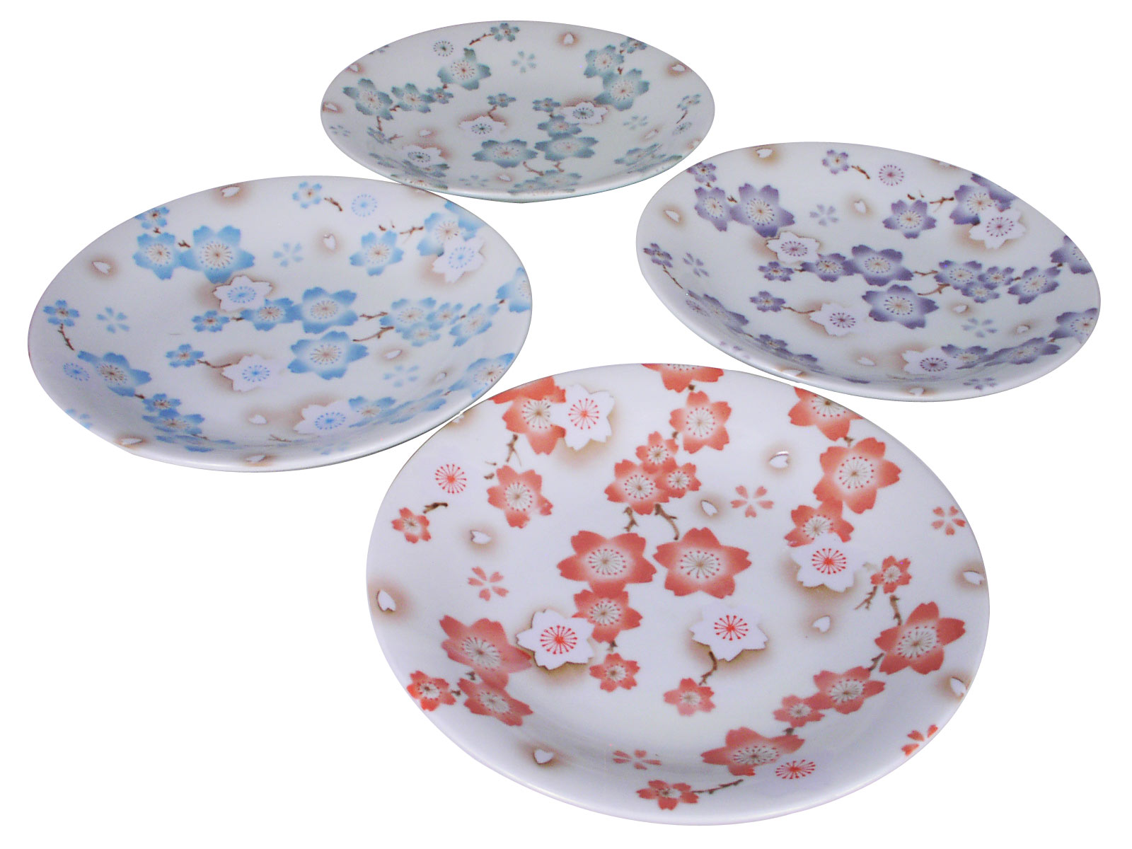 Season of Cherry Blossoms Assorted Colors Japanese Plates Set of Four  sc 1 st  Mrs. Lin\u0027s Kitchen & of Cherry Blossoms Assorted Colors Japanese Plates Set of Four