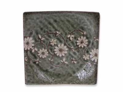 Serene Meadow of Cosmos Asian Square Plate