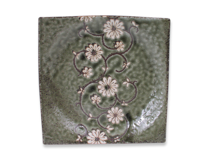 Serene Meadow of Cosmos Japanese Square Plate