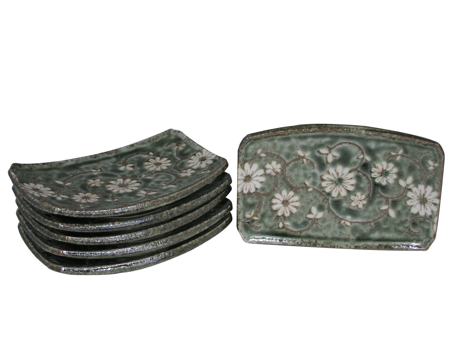 Serene Meadow Of Cosmos Japanese Sushi Plates Set For Six