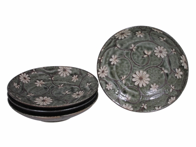 Serene Meadow of Cosmos Oriental Serving Dishes for Four