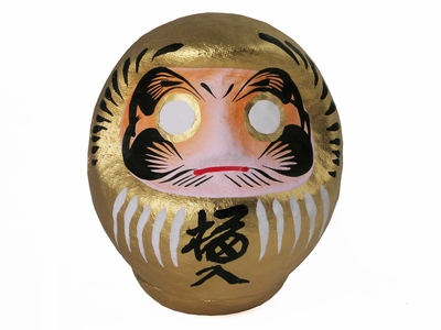 Shiny Gold Collector's Daruma Good Luck Doll