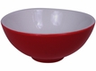 Striking Red and White Contemporary Ceramic Saucer