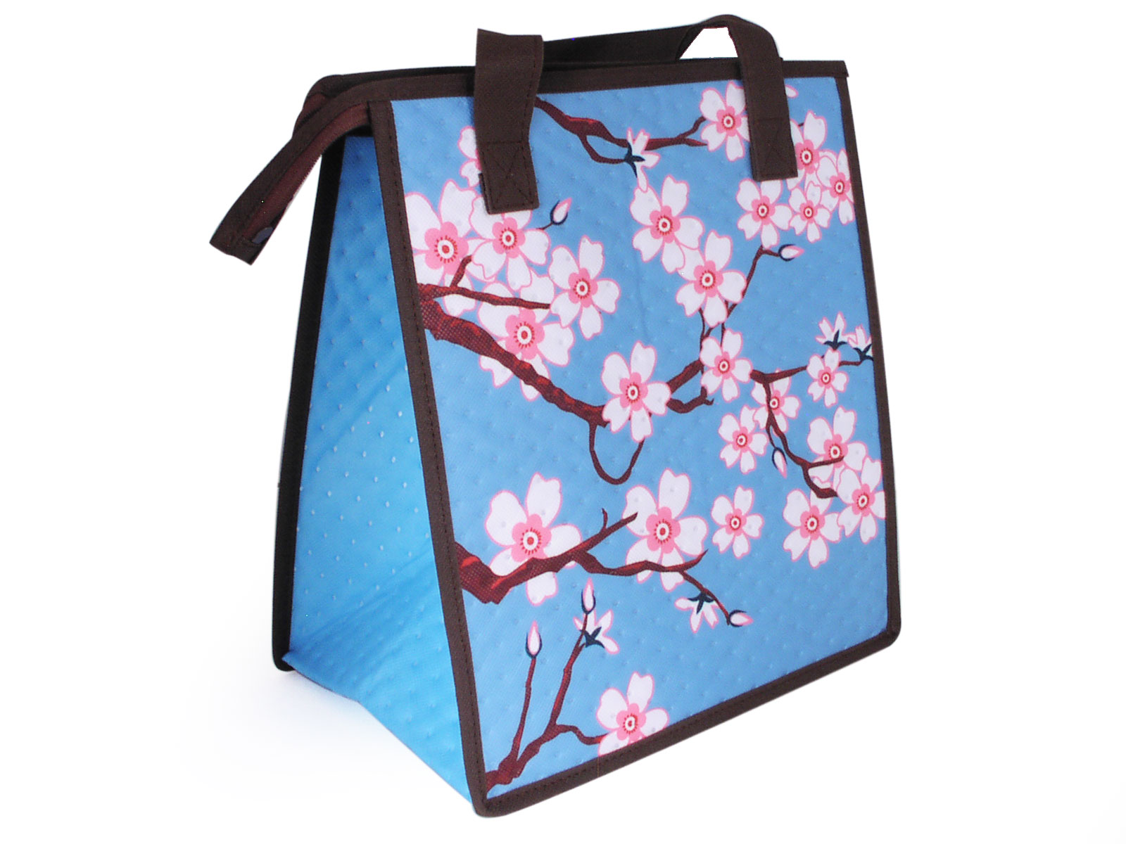 3fdde2b943473c Well-known Teal and Pink Cherry Blossom Insulated Lunch Bag AL06
