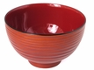 Traditional Appeal Red Plastic Japanese Soup Bowl