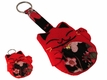 Traditional Cloth Red Lucky Japanese Cat Keychain