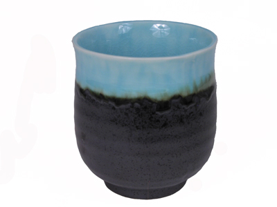 Turquois Sky and Earthen Tableware Japanese Teacup