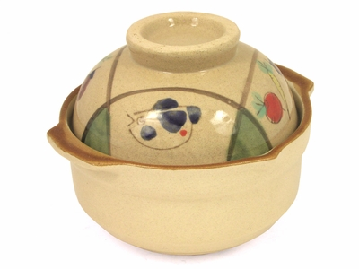Unique Fish and Veggie Earthen Chinese Clay Pot