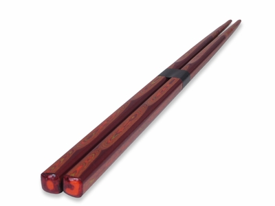 Wakasa Nuri Burgundy Fancy Japanese Chopsticks