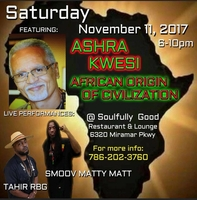 Ashra Kwesi Speaks In Miami November 11, 2017