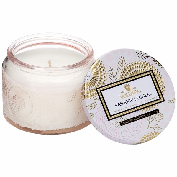 Voluspa Panjore Lychee Petite Glass Jar Candle