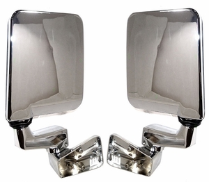 New ADR Chrome Side View Mirror PAIR