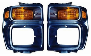 New Bezel with Parking Lamp & Side Marker - PAIR