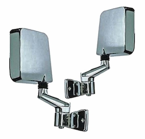 New Dorman Chrome Side View Mirrors / 955-1152 & 955-1153