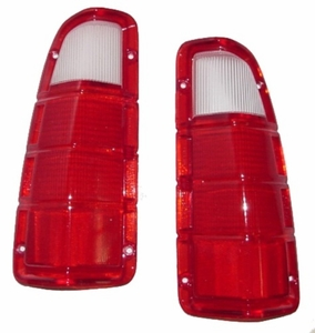 New DOT Replacement Tail Light Lens & Gasket - Pair