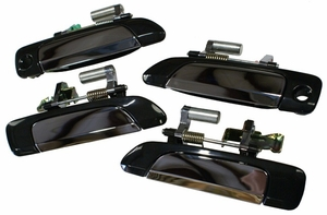 New LatchWell Black & Chrome Outside Door Handles