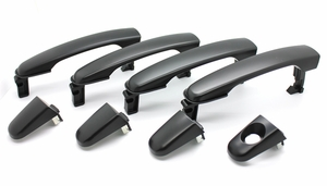 New LatchWell Black Outside Door Handle Set