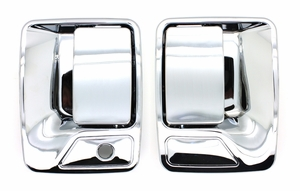 New LatchWell Chrome Outside Door Handle Pair