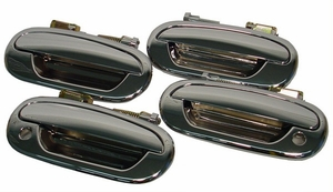 New LatchWell Chrome Outside Door Handle - SET