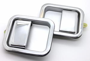 New LatchWell Outside Door Handles - Pair - Chrome