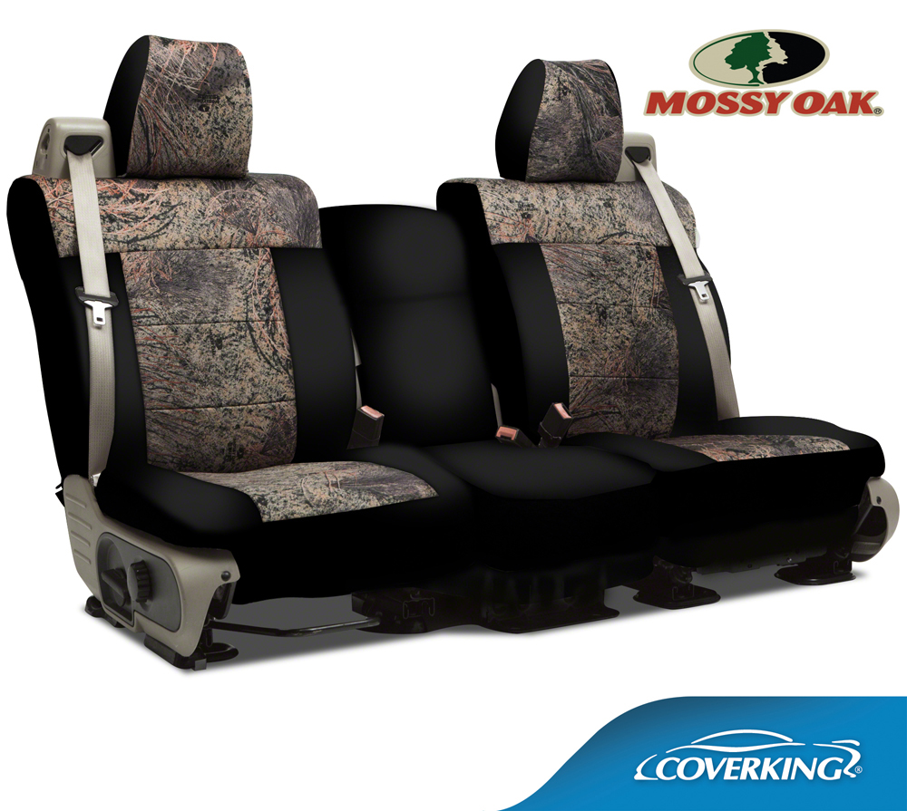 New Neotex Mossy Oak Brush Camo Seat Covers With Black Neosupreme Sides