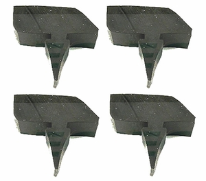 New Precision Weatherstripping Hood / Fender Bumpers / BMP 023 x 4