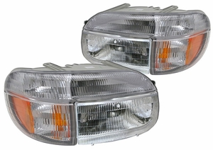 New Replacement DOT Headlight & Turn Signal - PAIR