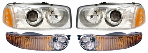 New Replacement DOT Headlight & Turn Signal - SET