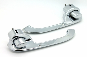 Trim Parts: 1203 / New 1955-1957 Rear Outside Door Handles / Pair