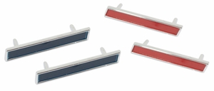 Trim Parts: 5152 / New 1961 Corvette Front Fender Side Bars Set