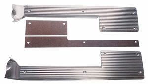 Trim Parts: 5263 / New 1961-1962 Corvette Sill Plates With Spacers
