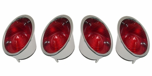 Trim Parts: 5309 / New 1961-1962 Corvette Tail Light Housing Assembly Set