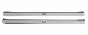 Trim Parts: 6730 / New 1967-1969 Sill Plates with Riveted Tag