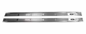 Trim Parts: 6732 / New 1970-1972 Camaro Sill Plates with Riveted Tag