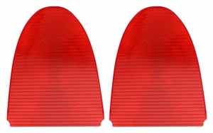 Trim Parts: A1021P / New 1955 Chevy Tail Light Lens, Inner Pair